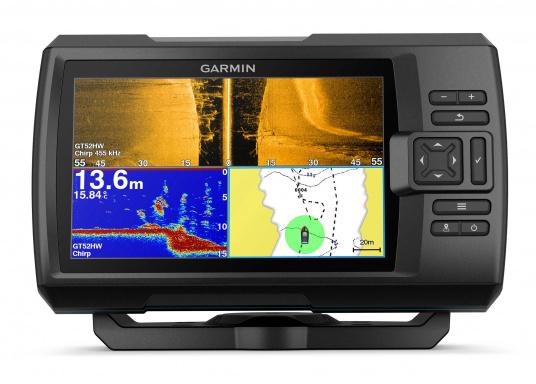 """Die neue STRIKER Plus Serie von Garmin überzeugt mit nicht zu überbietenden Aufzeichnungen und integriertem GPS. So können Sie Ihre Lieblingsspots zum Angeln oder andere Wegpunkte markieren um problemlos den Weg dorthin zurückzufinden.Der STRIKER Plus 7sv verfügt über ein wasserdichtes 7"""" Display und wird ohne Geber geliefert. (Bild 5 von 8)"""
