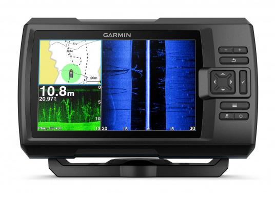 """Die neue STRIKER Plus Serie von Garmin überzeugt mit nicht zu überbietenden Aufzeichnungen und integriertem GPS. So können Sie Ihre Lieblingsspots zum Angeln oder andere Wegpunkte markieren um problemlos den Weg dorthin zurückzufinden.Der STRIKER Plus 7sv verfügt über ein wasserdichtes 7"""" Display und wird inkl. GT52HW-TM Geber geliefert. (Bild 6 von 8)"""