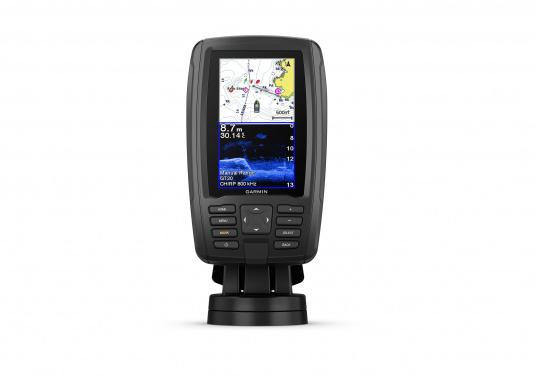 """Mit der neuen EchoMAP Plus-Serie von Garmin erhalten Sie hochauflösende Darstellungen der unmittelbaren Unterwasserwelt in Kombination mit einem Kartenplotter. Der EchoMAP Plus 42cv verfügt über ein wasserdichtes 4,2"""" Display und wird inkl. GT20-TM Geber geliefert. (Bild 3 von 13)"""