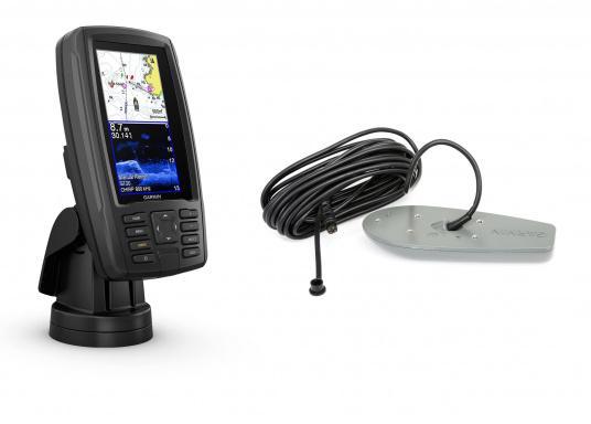 """Mit der neuen EchoMAP Plus-Serie von Garmin erhalten Sie hochauflösende Darstellungen der unmittelbaren Unterwasserwelt in Kombination mit einem Kartenplotter. Der EchoMAP Plus 42cv verfügt über ein wasserdichtes 4,2"""" Display und wird inkl. GT20-TM Geber geliefert."""