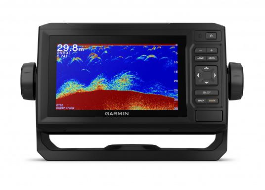 """Mit der neuen EchoMAP Plus-Serie von Garmin erhalten Sie hochauflösende Darstellungen der unmittelbaren Unterwasserwelt in Kombination mit einem Kartenplotter. Der EchoMAP Plus 62cv verfügt über ein wasserdichtes 6"""" Display und wird ohne Geber geliefert. (Bild 11 von 12)"""