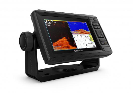"""Mit der neuen EchoMAP Plus-Serie von Garmin erhalten Sie hochauflösende Darstellungen der unmittelbaren Unterwasserwelt in Kombination mit einem Kartenplotter. Der EchoMAP Plus 62cv verfügt über ein wasserdichtes 6"""" Display und wird inkl. GT20-TM Geber geliefert. (Bild 2 von 13)"""