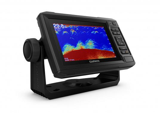 """Mit der neuen EchoMAP Plus-Serie von Garmin erhalten Sie hochauflösende Darstellungen der unmittelbaren Unterwasserwelt in Kombination mit einem Kartenplotter. Der EchoMAP Plus 62cv verfügt über ein wasserdichtes 6"""" Display und wird inkl. GT20-TM Geber geliefert. (Bild 11 von 13)"""