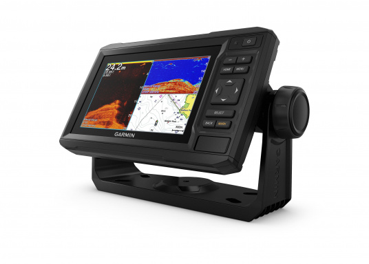 """Mit der neuen EchoMAP Plus-Serie von Garmin erhalten Sie hochauflösende Darstellungen der unmittelbaren Unterwasserwelt in Kombination mit einem Kartenplotter. Der EchoMAP Plus 62cv verfügt über ein wasserdichtes 6"""" Display und wird inkl. GT20-TM Geber geliefert. (Bild 4 von 13)"""