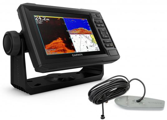 """Mit der neuen EchoMAP Plus-Serie von Garmin erhalten Sie hochauflösende Darstellungen der unmittelbaren Unterwasserwelt in Kombination mit einem Kartenplotter. Der EchoMAP Plus 62cv verfügt über ein wasserdichtes 6"""" Display und wird inkl. GT20-TM Geber geliefert."""