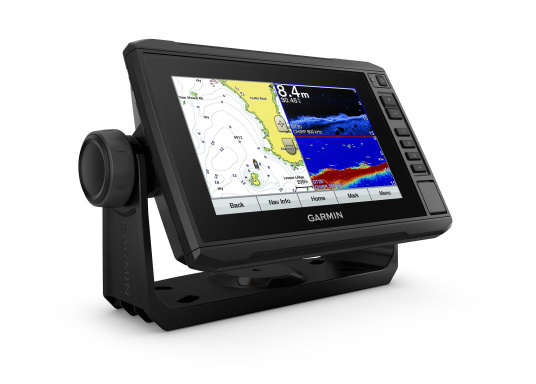 "The new EchoMAP Plus series from Garmin offers high-resolution images of the immediate surroundings underwater in combination with a chartplotter. The EchoMAP Plus 72cv has a waterproof 7.2"" display and comes without transducer."