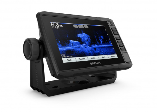"The new EchoMAP Plus series from Garmin offers high-resolution images of the immediate surroundings underwater in combination with a chartplotter. The EchoMAP Plus 72cv has a waterproof 7.2"" display and comes without transducer. (Afbeelding 10 of 12)"