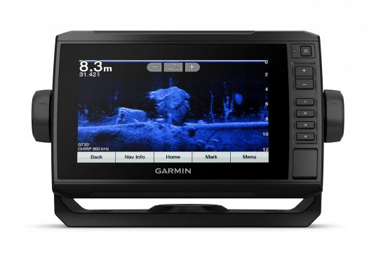 "The new EchoMAP Plus series from Garmin offers high-resolution images of the immediate surroundings underwater in combination with a chartplotter. The EchoMAP Plus 72cv has a waterproof 7.2"" display and comes without transducer. (Afbeelding 11 of 12)"