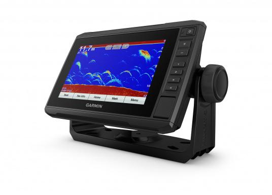 """Mit der neuen EchoMAP Plus-Serie von Garmin erhalten Sie hochauflösende Darstellungen der unmittelbaren Unterwasserwelt in Kombination mit einem Kartenplotter. Der EchoMAP Plus 72cv verfügt über ein wasserdichtes 7"""" Display und wird inkl. GT20-TM Geber geliefert. (Bild 9 von 12)"""