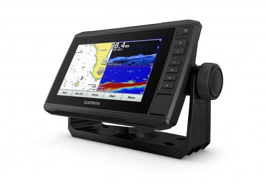 """Mit der neuen EchoMAP Plus-Serie von Garmin erhalten Sie hochauflösende Darstellungen der unmittelbaren Unterwasserwelt in Kombination mit einem Kartenplotter. Der EchoMAP Plus 72cv verfügt über ein wasserdichtes 7"""" Display und wird inkl. GT20-TM Geber geliefert. (Bild 3 von 12)"""