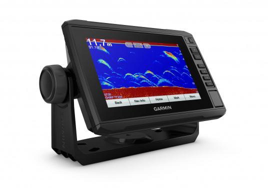 """Mit der neuen EchoMAP Plus-Serie von Garmin erhalten Sie hochauflösende Darstellungen der unmittelbaren Unterwasserwelt in Kombination mit einem Kartenplotter. Der EchoMAP Plus 72cv verfügt über ein wasserdichtes 7"""" Display und wird inkl. GT20-TM Geber geliefert. (Bild 7 von 12)"""