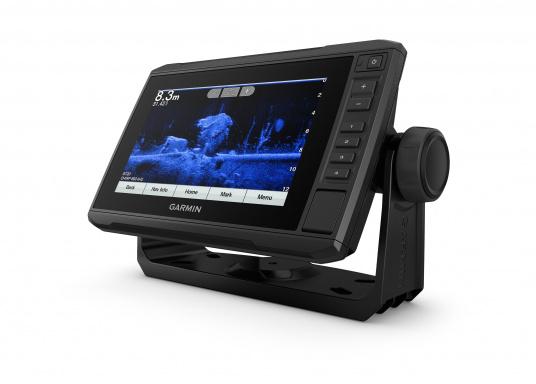 """Mit der neuen EchoMAP Plus-Serie von Garmin erhalten Sie hochauflösende Darstellungen der unmittelbaren Unterwasserwelt in Kombination mit einem Kartenplotter. Der EchoMAP Plus 72sv verfügt über ein wasserdichtes 7"""" Display und wird inkl. GT52HW-TM Geber geliefert. (Bild 10 von 13)"""