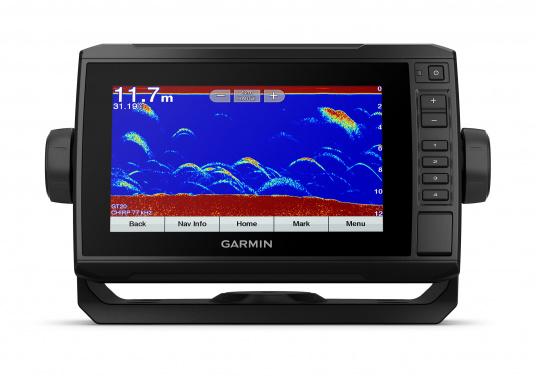 """Mit der neuen EchoMAP Plus-Serie von Garmin erhalten Sie hochauflösende Darstellungen der unmittelbaren Unterwasserwelt in Kombination mit einem Kartenplotter. Der EchoMAP Plus 72sv verfügt über ein wasserdichtes 7"""" Display und wird inkl. GT52HW-TM Geber geliefert. (Bild 12 von 13)"""