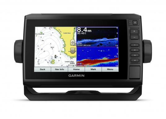 """Mit der neuen EchoMAP Plus-Serie von Garmin erhalten Sie hochauflösende Darstellungen der unmittelbaren Unterwasserwelt in Kombination mit einem Kartenplotter. Der EchoMAP Plus 72sv verfügt über ein wasserdichtes 7"""" Display und wird inkl. GT52HW-TM Geber geliefert. (Bild 3 von 13)"""