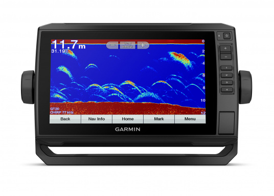 """Mit der neuen EchoMAP Plus-Serie von Garmin erhalten Sie hochauflösende Darstellungen der unmittelbaren Unterwasserwelt in Kombination mit einem Kartenplotter. Der EchoMAP Plus 92sv verfügt über ein wasserdichtes 9"""" Display und wird inkl. GT52HW-TM Geber geliefert. (Bild 9 von 13)"""