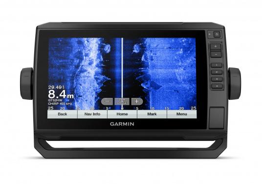 """Mit der neuen EchoMAP Plus-Serie von Garmin erhalten Sie hochauflösende Darstellungen der unmittelbaren Unterwasserwelt in Kombination mit einem Kartenplotter. Der EchoMAP Plus 92sv verfügt über ein wasserdichtes 9"""" Display und wird inkl. GT52HW-TM Geber geliefert. (Bild 12 von 13)"""