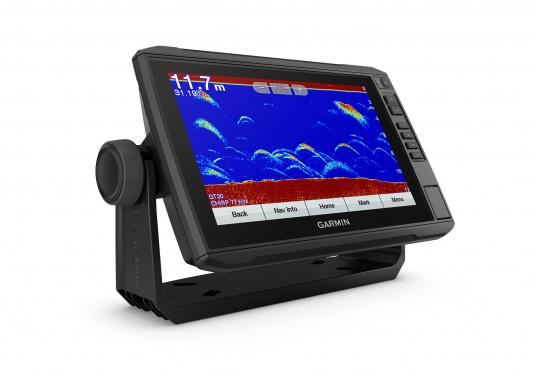 """Mit der neuen EchoMAP Plus-Serie von Garmin erhalten Sie hochauflösende Darstellungen der unmittelbaren Unterwasserwelt in Kombination mit einem Kartenplotter. Der EchoMAP Plus 92sv verfügt über ein wasserdichtes 9"""" Display und wird inkl. GT52HW-TM Geber geliefert. (Bild 8 von 13)"""
