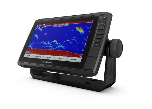 """Mit der neuen EchoMAP Plus-Serie von Garmin erhalten Sie hochauflösende Darstellungen der unmittelbaren Unterwasserwelt in Kombination mit einem Kartenplotter. Der EchoMAP Plus 92sv verfügt über ein wasserdichtes 9"""" Display und wird inkl. GT52HW-TM Geber geliefert. (Bild 10 von 13)"""