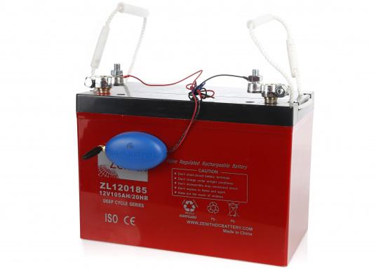 Beim SafeCurrent handelt es sich um einen kleinen Batterie-Monitor, der direkt an die Batterie angeschlossen wird. Mithilfe der integrierten SIM-Karte werden alle vier Stunden aktualisierte Meldungen mit Informationen zur Batteriespannung, zur Temperatur und zu der ungefähren Position des Fahrzeuges ausgesendet. (Bild 3 von 3)
