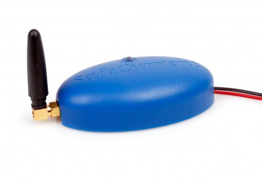 Beim SafeCurrent handelt es sich um einen kleinen Batterie-Monitor, der direkt an die Batterie angeschlossen wird. Mithilfe der integrierten SIM-Karte werden alle vier Stunden aktualisierte Meldungen mit Informationen zur Batteriespannung, zur Temperatur und zu der ungefähren Position des Fahrzeuges ausgesendet.
