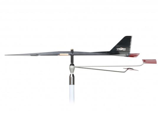 UKW-Seefunkantenne für Segelboote, ausgestattet mit dem Windanzeiger WINDEX 15. Mit verstärktem Glasfaserstrahler, 100 % wasserdicht und UV-beständig. Wird mit Winkelhalterung zur Mastmontage geliefert. (Bild 2 von 5)