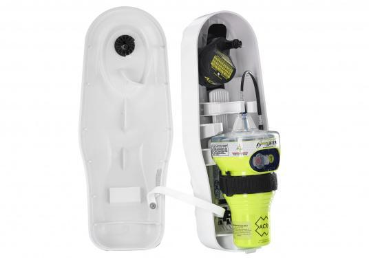 Neuentwickelte Seenotfunkboje (EPIRB) mit leistungsfähiger Elektronik, auf die Sie sich jederzeit zu 100 % verlassen können. Mit der Epirb GlobalFIX V4 von ACR steigern Sie Ihre Sicherheit auf See und erhöhen die Überlebenswahrscheinlichkeit im Notfall. (Bild 2 von 4)