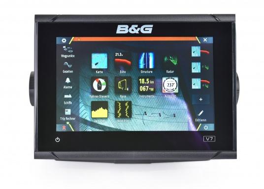 """Vollgepackt mit Innovationen und preisgekrönten Segelfunktionen ist die neue Serie des Vulcan-Multifunktionsdisplays von B&G ein Muss für jeden Segler. Der Vulcan 7R verfügt über ein 7"""" großes Multi-Touch-Display, integriertem GPS und WiFi, ausgezeichneten Sonar-Technologien und einer Radar-Kompatibilität. Lieferung ohne Geber. (Bild 8 von 9)"""