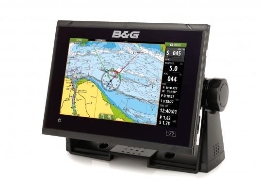 """Vollgepackt mit Innovationen und preisgekrönten Segelfunktionen ist die neue Serie des Vulcan-Multifunktionsdisplays von B&G ein Muss für jeden Segler. Der Vulcan 7R verfügt über ein 7"""" großes Multi-Touch-Display, integriertem GPS und WiFi, ausgezeichneten Sonar-Technologien und einer Radar-Kompatibilität. Lieferung ohne Geber."""