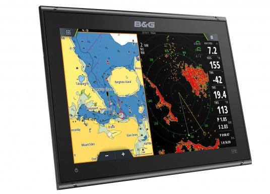"""Packed with innovation and award-winning sailing features, the new B&G Vulcan multifunction display series is a must-have for every sailor. The Vulcan 12R features a 12"""" multi-touch display, built-in GPS and WiFi, excellent sonar technologies and radar compatibility. Transducer is not included. (Image 2 of 15)"""