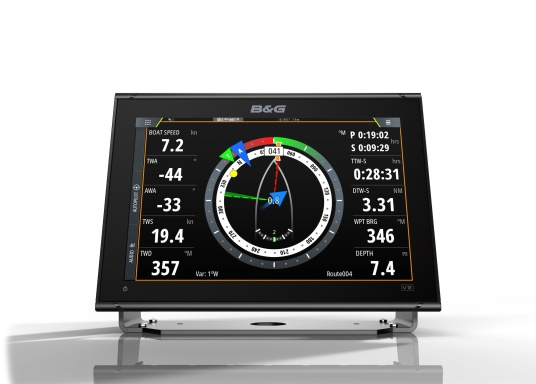 """Packed with innovation and award-winning sailing features, the new B&G Vulcan multifunction display series is a must-have for every sailor. The Vulcan 12R features a 12"""" multi-touch display, built-in GPS and WiFi, excellent sonar technologies and radar compatibility. Transducer is not included. (Image 4 of 15)"""