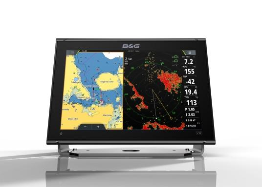 """Packed with innovation and award-winning sailing features, the new B&G Vulcan multifunction display series is a must-have for every sailor. The Vulcan 12R features a 12"""" multi-touch display, built-in GPS and WiFi, excellent sonar technologies and radar compatibility. Transducer is not included. (Image 5 of 15)"""