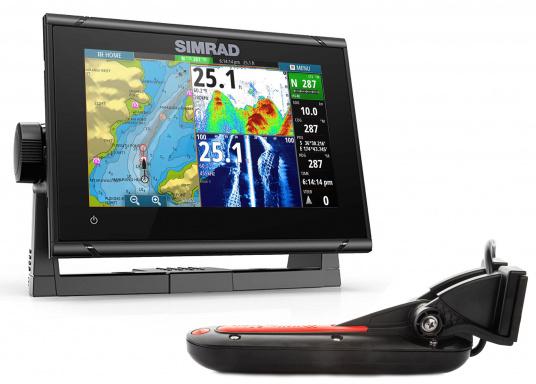 """Das neue 7"""" Kartenplotter-Navigationsdisplay GO7 XSR von Simrad bietet Ihnen eine Reihe von neuen Technologien. Durch einen integrierten GPS-Empfänger, drahtloser Konnektivität über WIFi, eine Vielzahl an Anschlussmöglichkeiten über das NMEA2000 Netzwerksystem und der Plug-and-Play Radarkompatibilität wird das Navigieren auch bei schlechten Bedingungen leicht gemacht. Lieferung inklusive TotalScan-Geber."""
