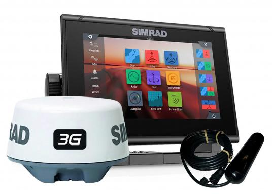 """Simrad&#39&#x3B;s new GO7 XSR 7"""" chartplotter navigation display comes with a whole range of new technologies. Navigation remains easy even in bad conditions due to a built-in GPS receiver, wireless connectivity via WIFi, a variety of connectivity options via the NMEA2000 network system and plug-and-play radar compatibility. 3G Radar, TotalScan and Navioncis + maps for Europe, Middle East and Africa is included."""