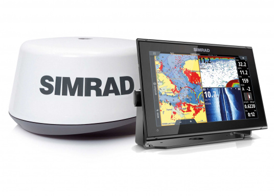 "The new 12"" GO12 XSE chartplotter navigation display from Simrad offers a whole range of new technologies. Navigation remains easy even in bad conditions due to a built-in GPS receiver, wireless connectivity via WIFi, a variety of connectivity options via the NMEA2000 network system and plug-and-play radar compatibility. Delivery includes 3G radar and TotalScan transducer."