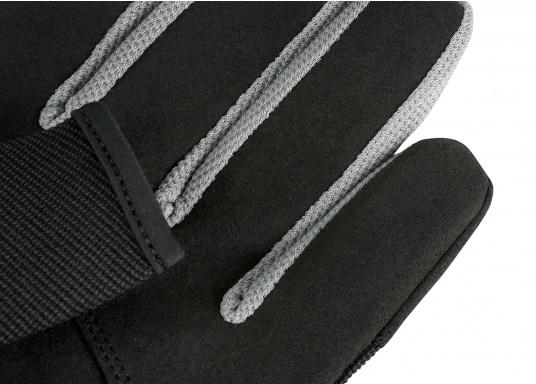 Der Musto Langfinger Segelhandschuh besteht aus 4-Wege Stretch Dynamic Mesh,welches nicht nur atmungsaktiv ist, sondern auch in Kombination mit der natürlichen Handform großen Komfort bei voller Bewegungsfreiheit bietet. (Bild 5 von 6)