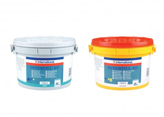 Interfill 833 ist ein leicht schleifbarer Feinspachtel, der kleinere Oberflächendefekte vor der Applikation des Folgeanstrichs beseitigt. Zum Einsatz über Interfill 830, kann mit der Kelle, Spachtelmesser oder Latte aufgetragen werden.