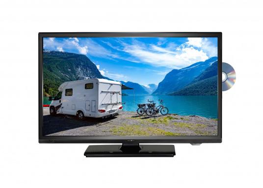 Kompakter 12V / 24V Fernseher für den vollen Fernsehspaß an Bord, im Auto oder im Caravan. Der 12V Fernseher überzeugt mit einem gestochen scharfen Bild in HD ready Qualität (1366 x 768 Pixel) und vielseitigen Empfangsmöglichkeiten.