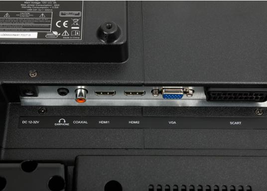 Kompakter 12V / 24V Fernseher für den vollen Fernsehspaß an Bord, im Auto oder im Caravan. Der 12V Fernseher überzeugt mit einem gestochen scharfen Bild in HD ready Qualität (1366 x 768 Pixel) und vielseitigen Empfangsmöglichkeiten. (Bild 5 von 7)