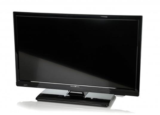 Kompakter 12V / 24V Fernseher für den vollen Fernsehspaß an Bord, im Auto oder im Caravan. Der 12V Fernseher überzeugt mit einem gestochen scharfen Bild in HD ready Qualität (1366 x 768 Pixel) und vielseitigen Empfangsmöglichkeiten. (Bild 2 von 7)