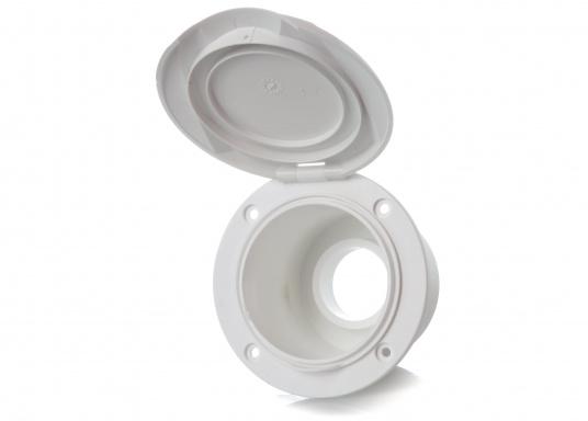 Passende Ersatz-Einbaubox für das Mischset. Hergestellt aus Kunststoff. Gehäusefarbe: weiß. (Bild 2 von 2)