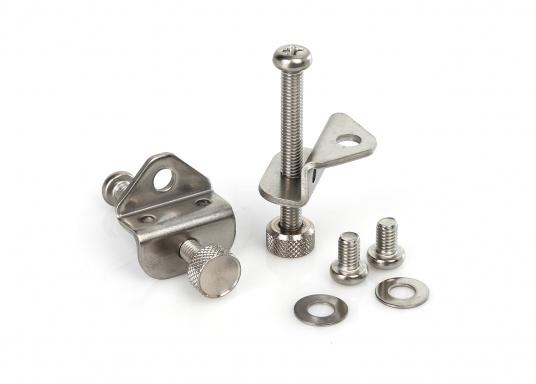 Originaler und passender Haltebügel für die Schottmontage eines GX1600, GX1700 oder GX1850 von Standard Horizon. Lieferung inklusive Schrauben.
