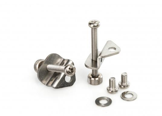 Originaler und passender Haltebügel für die Schottmontage eines GX1600, GX1700 oder GX1850 von Standard Horizon. Lieferung inklusive Schrauben. (Bild 2 von 2)