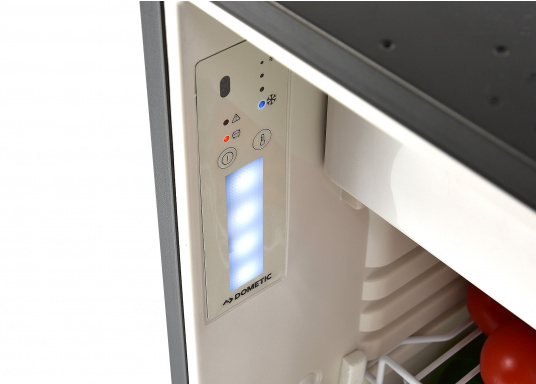 Innovative CRE-50 compressor refrigerator from DOMETIC. 2-in-1 solution with removable freezing compartment, which gives you more space to cool additional foodstuffs. Smart electronics control the speed of the compressor; as a result, energy consumption can be reduced by 25%.   (Image 7 of 10)
