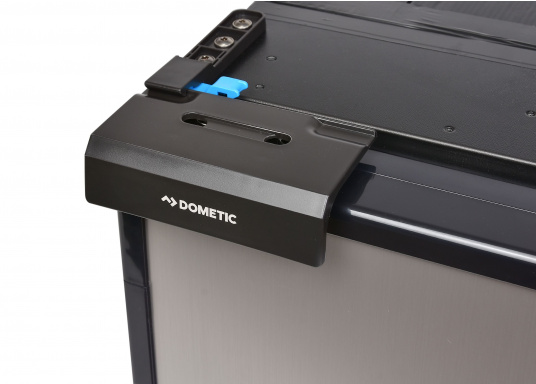 Innovative CRE-50 compressor refrigerator from DOMETIC. 2-in-1 solution with removable freezing compartment, which gives you more space to cool additional foodstuffs. Smart electronics control the speed of the compressor; as a result, energy consumption can be reduced by 25%.   (Image 5 of 10)