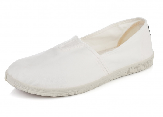 The light Camping Tintadois the perfect leisure shoe! Lace-free, making the summer shoe easy to slip on. Colour: white.