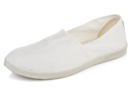 Les ballerines NATURAL WOLRD, produites durablement, ont convaincu par leurs design et confort. Couleur : blanc.