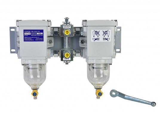 Der SEPAR SWK 2000 ist ein Wasserabscheider und Filter für leichte Dieselkraftstoffe, GL-, Lloyds-, RINA-, TÜV-geprüft. Lieferbar in verschiedenen Ausführungen. (Bild 2 von 3)