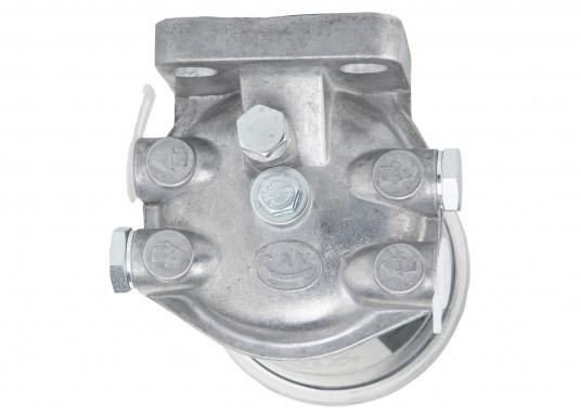 Diesel Kombi–Filter und Wasserabscheider in einem! Durch den Sichteinsatz kann jederzeit kontrolliert werden, ob sich Wasser angesammelt hat und über ein Ventil wird das angesammelte Wasser abgelassen. (Bild 3 von 7)