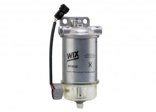 Diesel Kombi–Filter und Wasserabscheider in einem! Durch den Sichteinsatz kann jederzeit kontrolliert werden, ob sich Wasser angesammelt hat und über ein Ventil wird das angesammelte Wasser abgelassen.