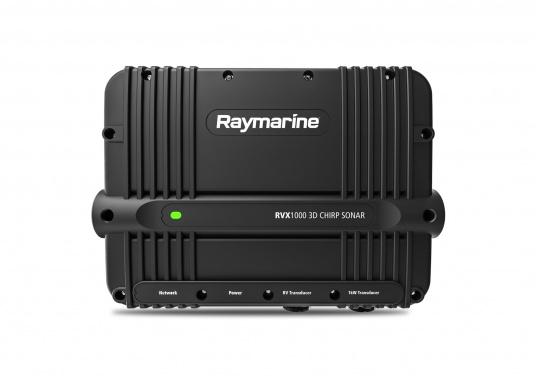 Das Sonarmodul RVX1000 von Raymarine verfügt über eine preisgekrönte und hochauflösende 3D Realvision Sonartechnologie, CHIRP Side and DownVision, sowie ein leistungsstarkes 1 kW Zwei Kanal CHIRP-Sonar.Die Blackbox ist somit eine vielseitige Lösung für das Fischen auf der Hochsee oder an der Küste. (Bild 2 von 5)
